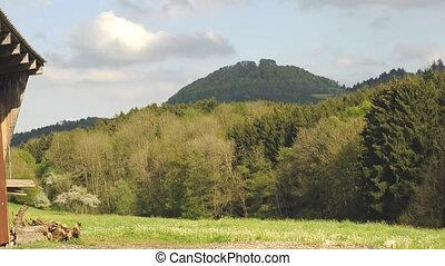 Hohenstaufen famous German mountain,seat of the former...