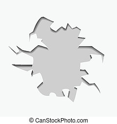 abstract hole with text - vector illustration