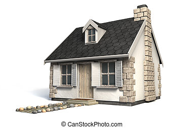 Quaint Little Cottage - A quaint little stone cottage with a...