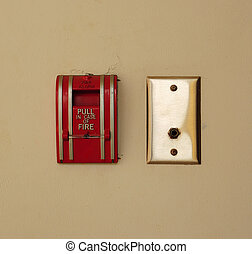 Fire alarm - Red fire alarm