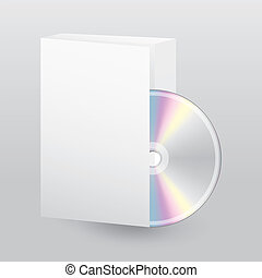 Blank open box with blank disc