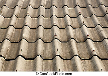 Gray tiles roof