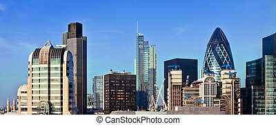 View of London business district - Cityscape view of London...
