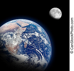 The Half Earth and The Half Moon Background