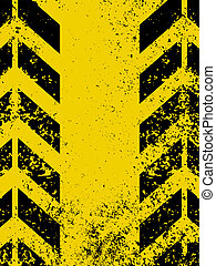 Worn yellow hazard stripes texture. EPS 8