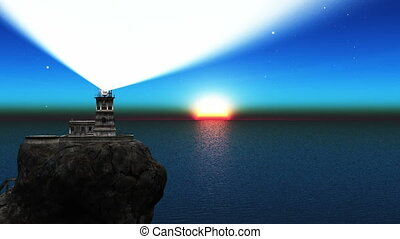 lighthouse and sunrise