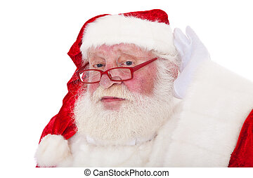 Santa Claus in authentic look All on white background