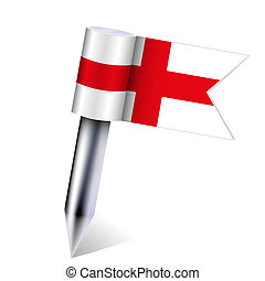 Vector England country flag isolated on white. Eps10