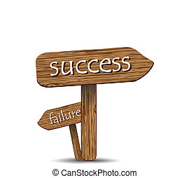 """Success"" and ""Bankruptcy"" - Signs Wooden, ""Success"" and..."