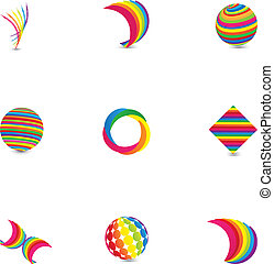 Abstract Logo Design Elements
