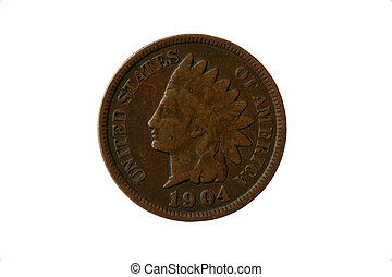 Indian head penny - Old 1904 indian head penny