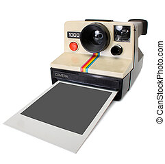 Polaroid instant camera, with clipping path
