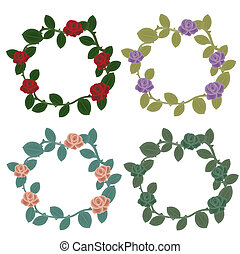 Roses wreaths