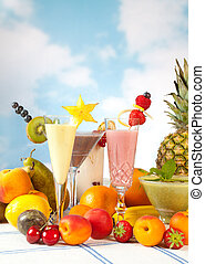 Party table with fruits