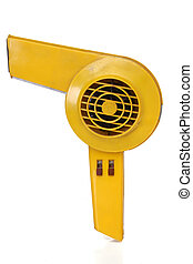Retro revival hair dryer, with clipping path