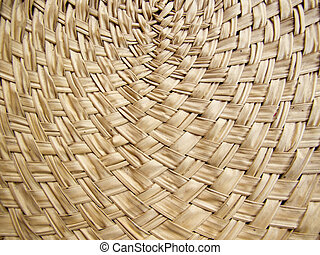 Texture of bamboo weave curve - Texture of brown bamboo...