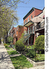 montreal neighbourhood - residential neighbourhood of...