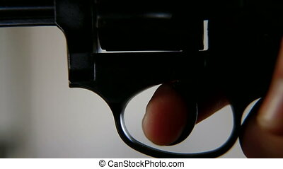 Press The Trigger - Press a finger on the trigger, closeup