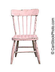vintage pink child's chair