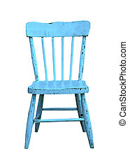 old blue child's chair