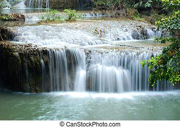 Beautiful water fall in Kanjanaburi