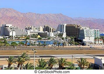 view of Eilat, Israel - Eilat, look on the runway airfield...