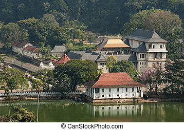 Sacred Tooth Relic Temple (Sri Dalada Maligawa) in Kandy,...