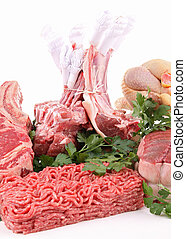 assortment of meat