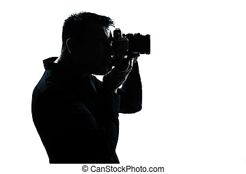 silhouette man portrait photographer