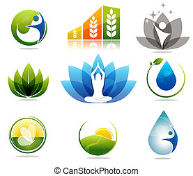 Helath care symbols - Beautiful nature and health care...