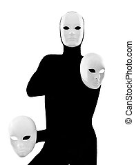 performer mime with mask