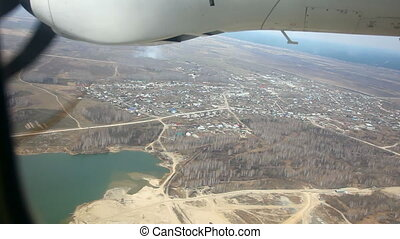 Aerial view - Aerial view from reduced turbopropeller...