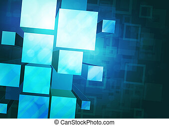 blue background with prisms - blue background with bulky...