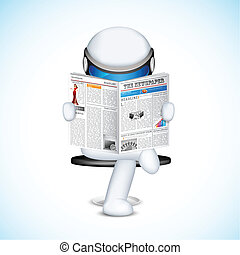 3d Man in vector - illustration of 3d man in fully scalable...