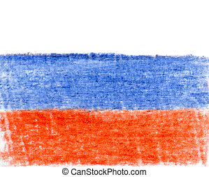 Russian Flag - Flag of Russian Federation, pencil drawing
