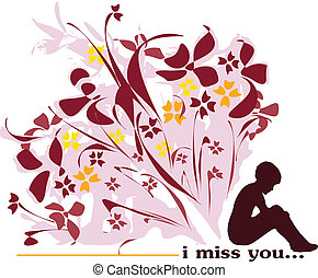 i miss you - bunch of flowers and men who think about his...