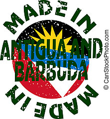 Made in Antigua and Barbuda - vector label Made in Antigua...