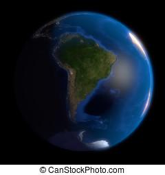Earth Globe South America