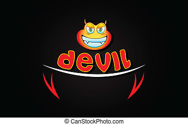 Devil Background - illustration of devil expression of lip...