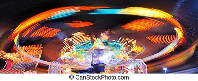 Fair Ride - ride at a county fair at night