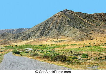 Moutains - Mountains and road in Armenia