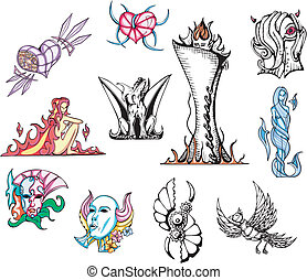 Miscellaneous Fantasy Vector Designs
