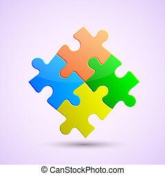 Vector puzzle creative abstract background. Eps10