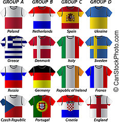 euro 2012 shirt participating in groups