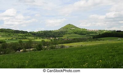 The German mountain Hohenstaufen seat of the emperor...