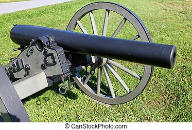 closeup of a gettysburg cannon - closeup view of a...