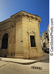 Building facade in old havana street