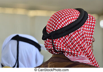 Bedouin Arab Men - Traditional Kufeyas - Bedouin arab men...