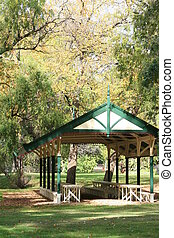 Picnic Area in the Park - Australian heritage style and...