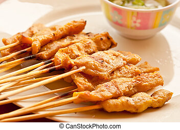 The Pork satay